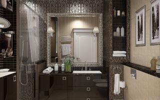 Интерьер ванной комнаты совмещенной с туалетом — рекомендации!