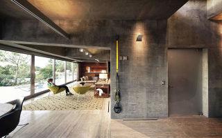 Бетонный потолок в интерьере: тенденция современного дизайна