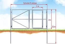 Ворота распашные металлические с калиткой: фото-примеры и монтаж