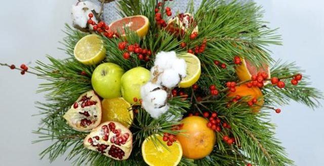 Букет новогодний своими руками: делаем сказочный подарок сами