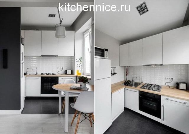 Дизайн интерьера маленькой кухни: фото проектов, материалы, освещение, мебель