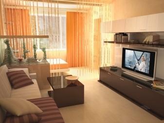 Зонирование комнаты на спальню и гостиную: советы дизайнеров