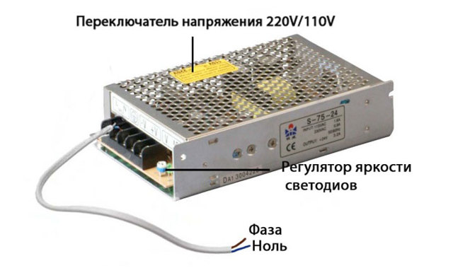Блок питания для светодиодной ленты 12В