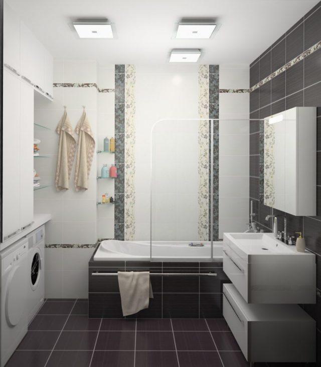 Ванная комната: фото и дизайн для маленькой ванны, отделка, планировка, интерьер