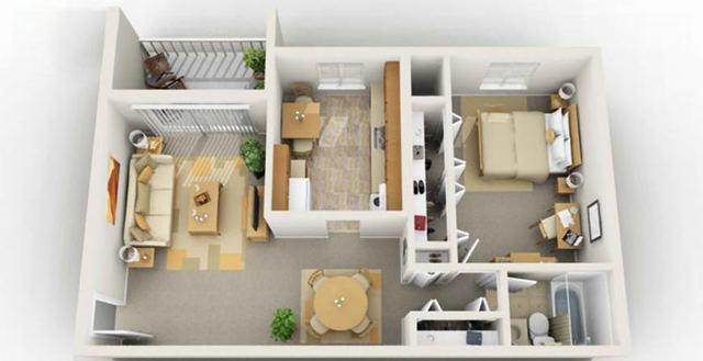 Дизайн двухкомнатной квартиры: интерьер комнат, стиль, отделка