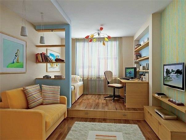 Дизайн однокомнатной квартиры: рекомендации и основные правила