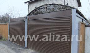 Гаражные ворота рольставни: размеры, цены, установка