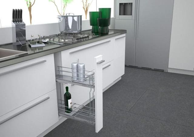 Бутылочница для кухни: типы конструкций и способы монтажа