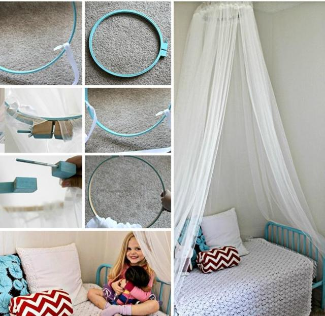 Балдахин на детскую кроватку: особенности конструкции, правила пошива