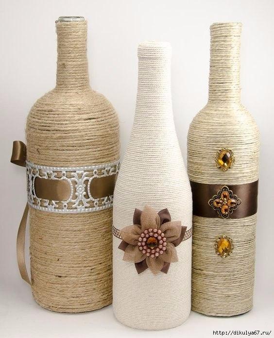 Бутылка к Новому году своими руками: способы декорирования бутылок