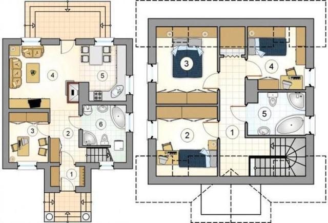 Планы двухэтажных домов: особенности, фото интересных решений