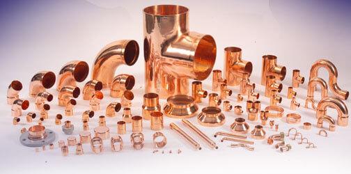 Медные трубы и фитинги для водопровода, особенности использования