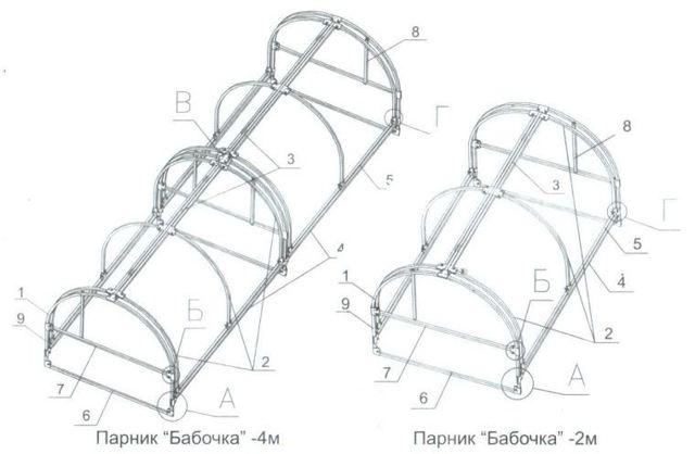 Парник Бабочка: модели, достоинства, изготовление своими руками
