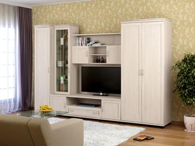 Корпусная мебель для гостиной: выбор, модели, цвет, стиль