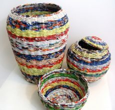 Плетение из газетных трубочек: новые идеи с фото-инструкциями