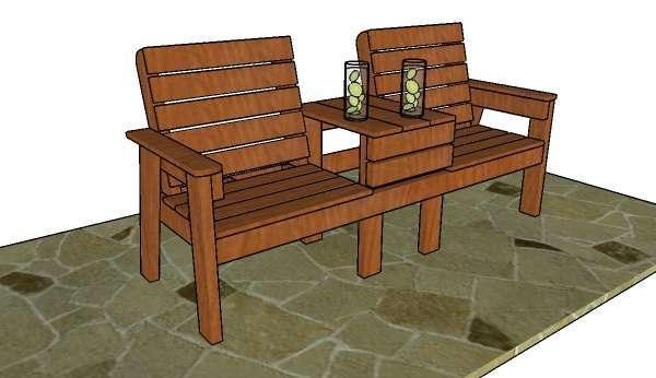 Садовая скамейка со спинкой своими руками: чертежи, фото-примеры
