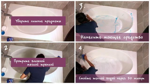 Чем мыть акриловую ванну в домашних условиях: проверенные средства
