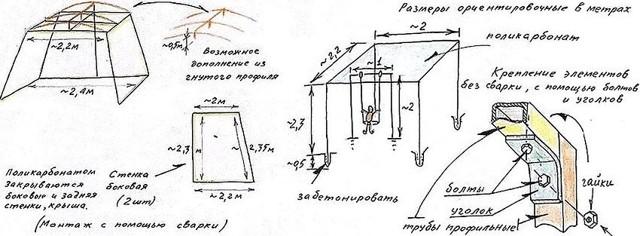 Садовые качели своими руками из металла: чертежи, размеры и фото