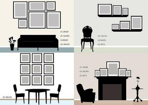 Рамки для фотографий на стену: выбор формы, стиля, правила размещения