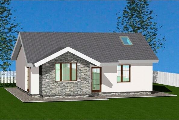 Проекты одноэтажных домов до 100 кв. м. из бруса, кирпича, блоков