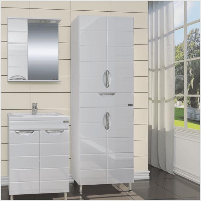 Навесной шкаф в ванную комнату: разновидности, критерии выбора