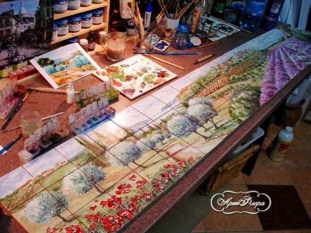 Фартук для кухни из плитки: дизайн, фото