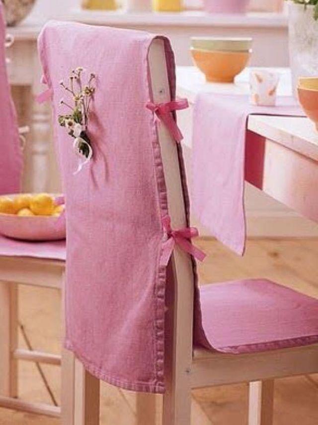 Чехлы на стулья со спинкой: как легко сменить обстановку в комнате
