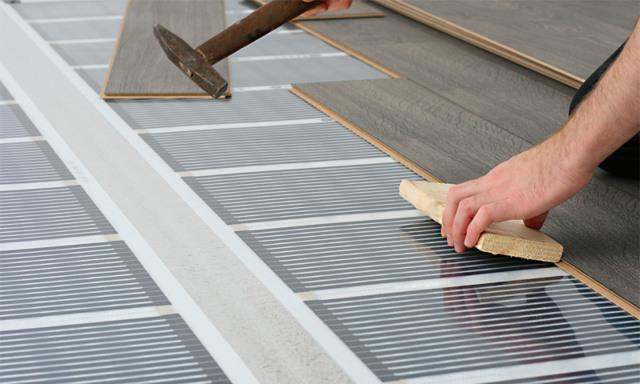 Теплый пол под ламинат на деревянный пол - особенности устройства.