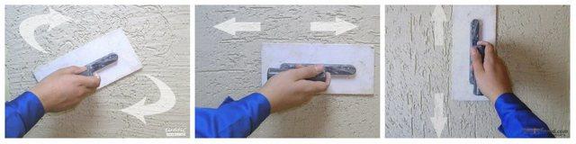 Технология нанесения штукатурки «короед»: фото и видео материалы