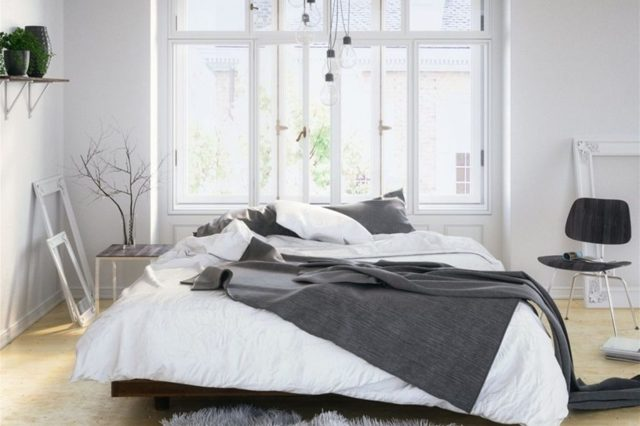 Спальня в скандинавском стиле: особенности, фотопримеры