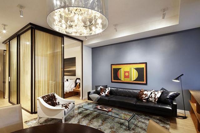 Перегородки для зонирования пространства в комнате: фото-идеи