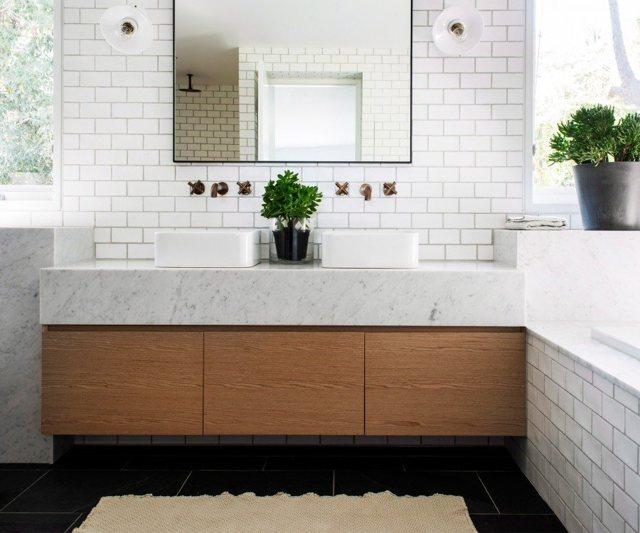 Плитка для ванной комнаты: фото, дизайн и примеры