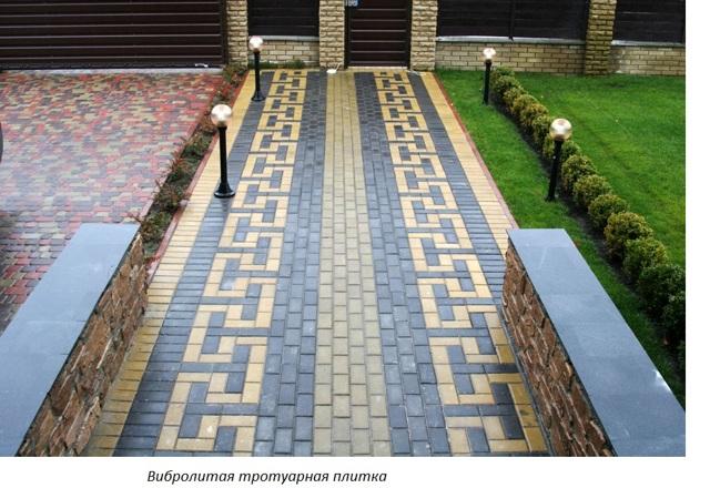 Тротуарная плитка во дворе частного дома: фото интересных вариантов