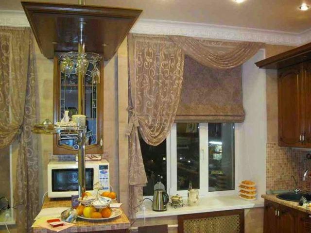 Тюль на кухню: фото, современные модели и их разновидности