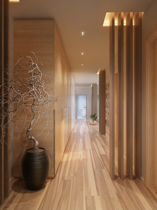 Коридор в квартире: дизайн, фото-идеи и приемы декорирования