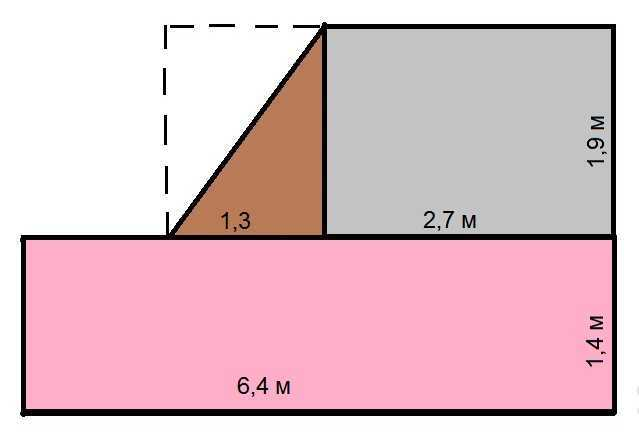 Калькулятор расчета площади треугольного помещения