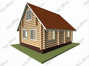 Проекты домов из бревна: одноэтажные и двухэтажные