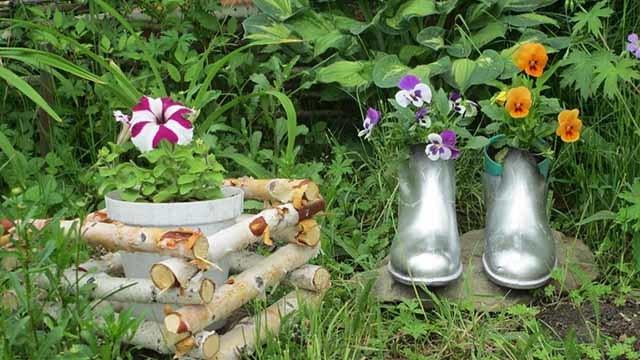 Клумбы и цветники своими руками из подручных материалов: фото