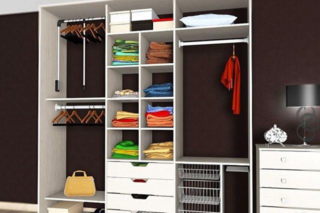 Наполнение шкафа-купе: содержимое, разновидности конструкции