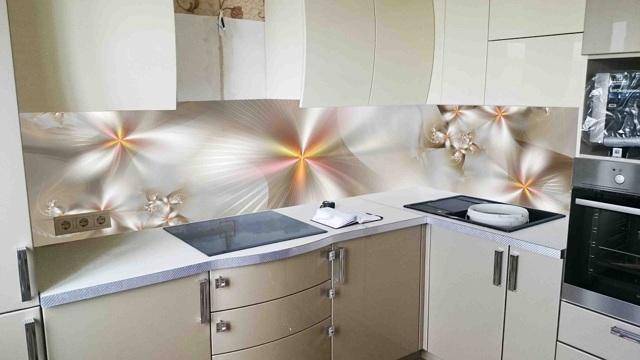 Фартук для кухни из стекла: каталог, фото, расчет и крепление