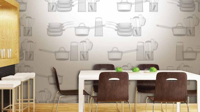 Обои для кухни моющиеся: каталог фото, виды, советы по поклейке
