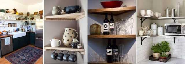 Полочки для кухни на стену: виды, материалы, выбор, сделать своими руками