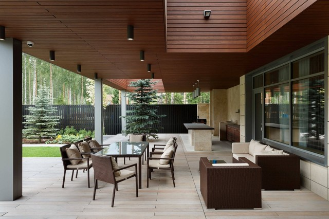 Ландшафтный дизайн двора частного дома: фото, нюансы