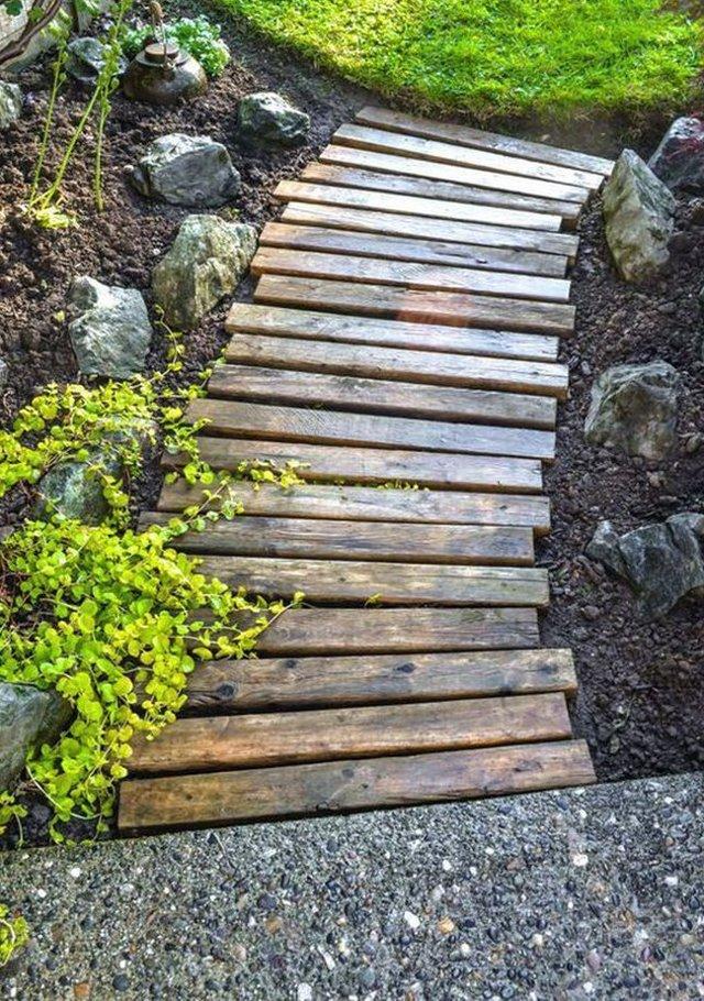Садовые дорожки своими руками с малыми затратами: фото-идеи