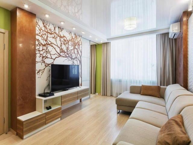 Натяжные глянцевые потолки: фото в интерьере, характеристика, цвета, освещение, дизайн