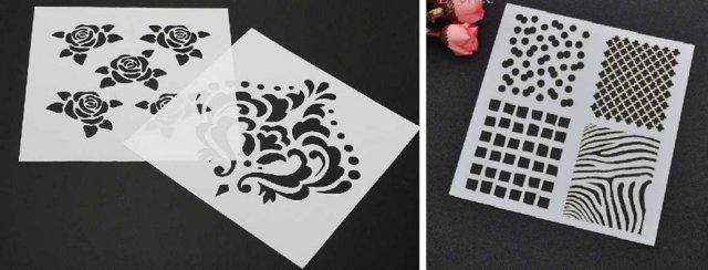 Трафареты для декора своими руками: шаблоны для вырезания из бумаги