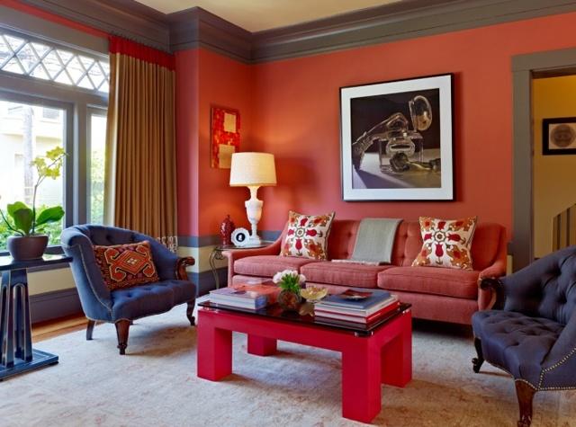 Терракотовый цвет: фото в интерьере разного назначения
