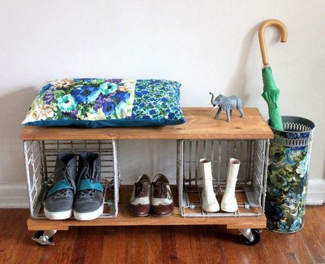 Этажерка для обуви: фото, идеи, типы, материалы, мастер-классы