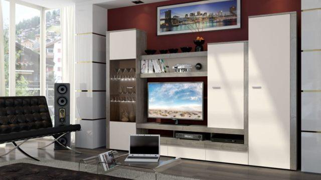 Стенки для гостиной в современном стиле: фото-примеры и идеи